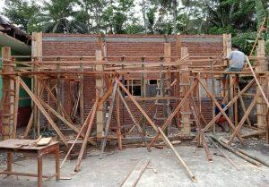 Pembangunan RKB di SDN 2 Karangjaladri Tengah di Kerjakan